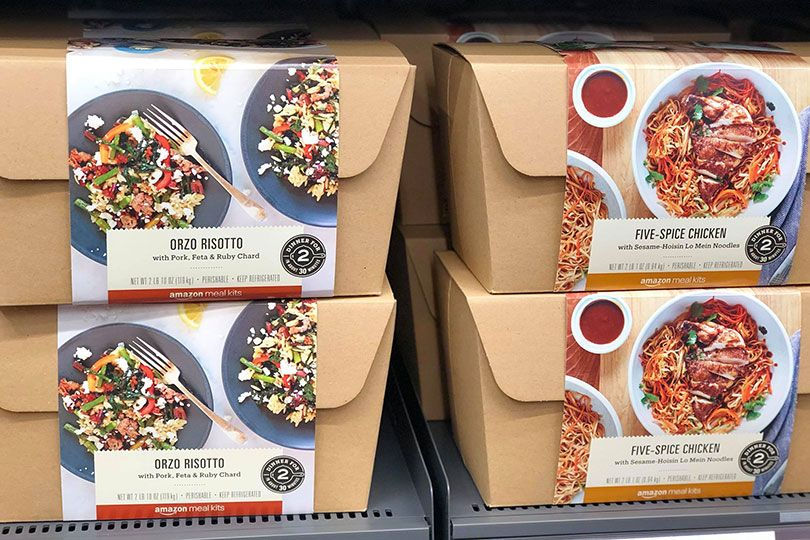 amazon go orzo risotto and five spice chicken meal kits