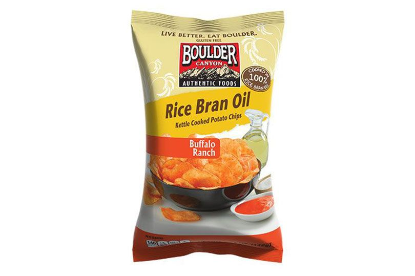 boulder canyon buffalo ranch rice bran kettle chips