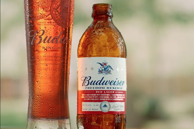 budweiser red lager