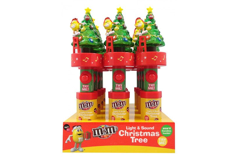 candyrific m&ms light and sound christmas tree