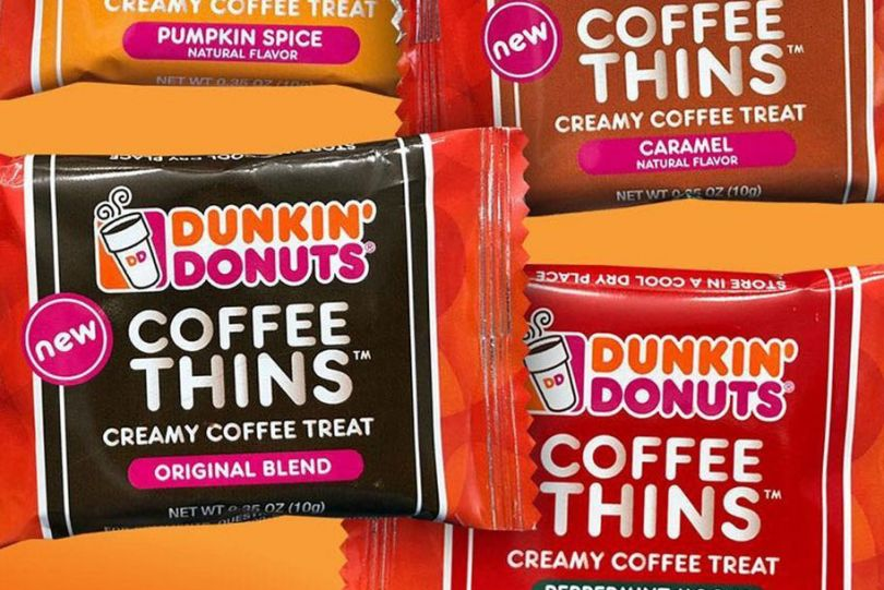 dunkin coffee thins