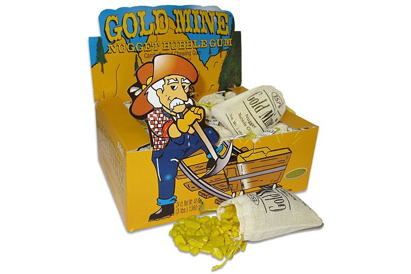 gold mine nuggets bubble gum