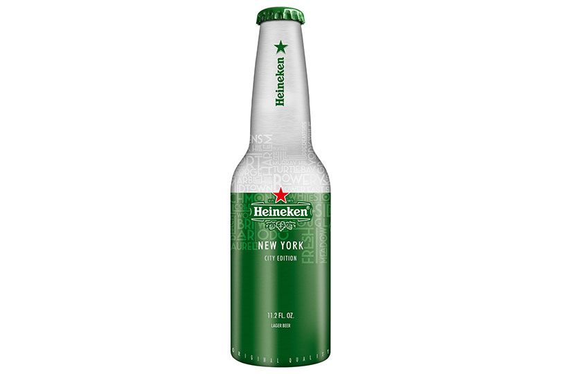 heineken aluminum bottle nyc