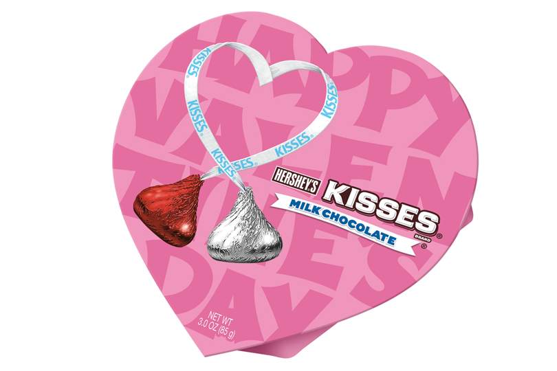 hershey kisses milk chocolate heart box