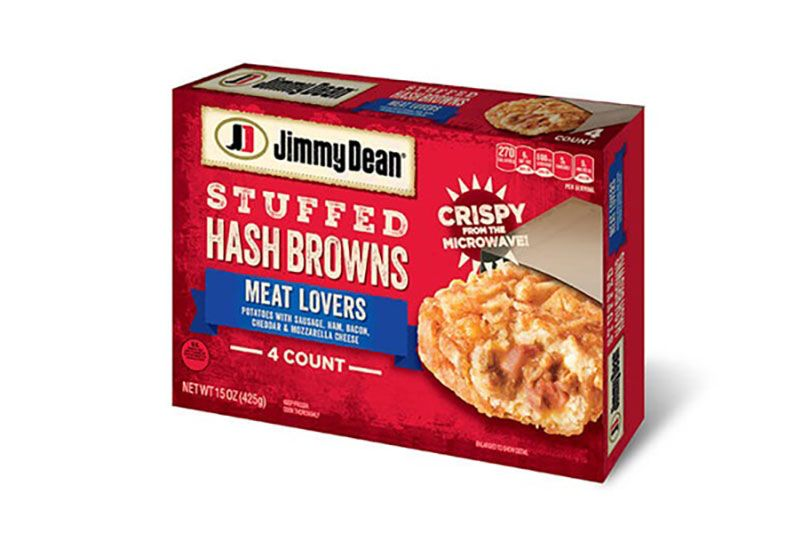 jimmy dean meat lovers sausage ham bacon cheese stuffed hashbrowns