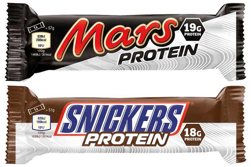 Mars Protein and Snickers Protein