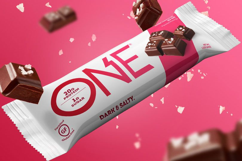 one dark chocolate bar
