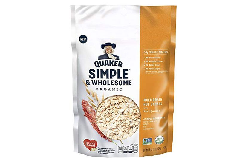 quaker simple and wholesome oatmeal
