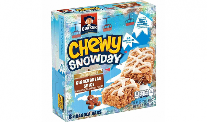 Quaker Chewy Bars in Gingerbread Spice