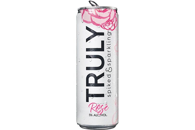 truly spiked sparkling rose