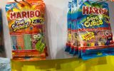 haribo sour cubes and sour streamers