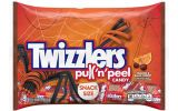 twizzlers pull and peel candy orange and black snack size