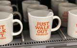amazon go just walk out coffee cup