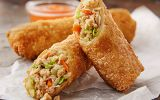 minh pork vegetable egg rolls