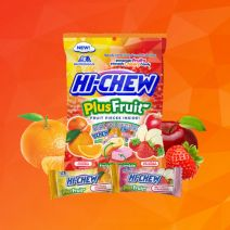 Hi-Chew Plus Fruit Orange & Tangerine and Red Apple & Strawberry