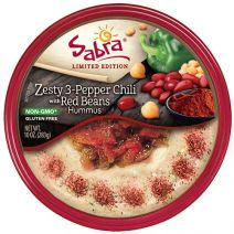Sabra Zesty 3-Pepper Chili with Red Beans