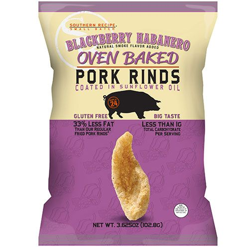 southern recipe small batch blackberry habanero pork rinds