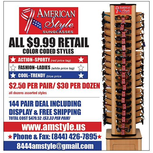 American Style Red, White & Blue sunglasses series