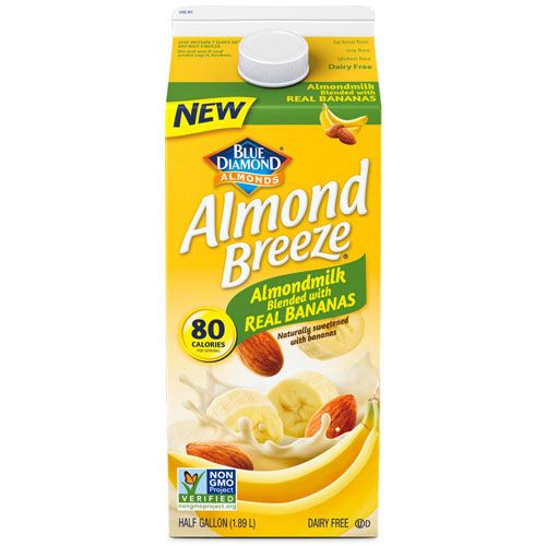 blue diamond almond milk bananas