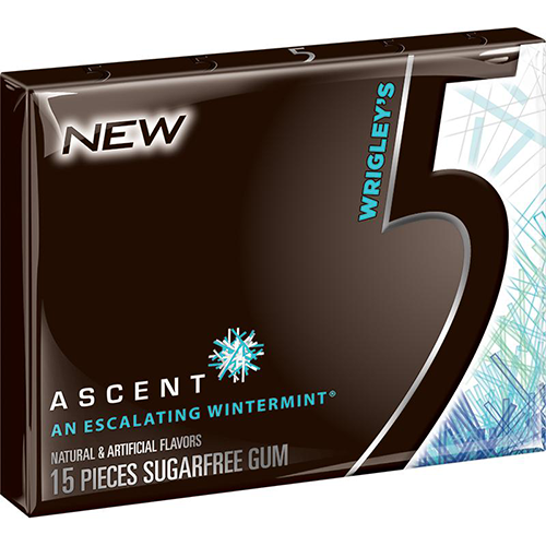 Wrigley 5 Gum Wintermint Flavor 15 Stick Pack Cs Products