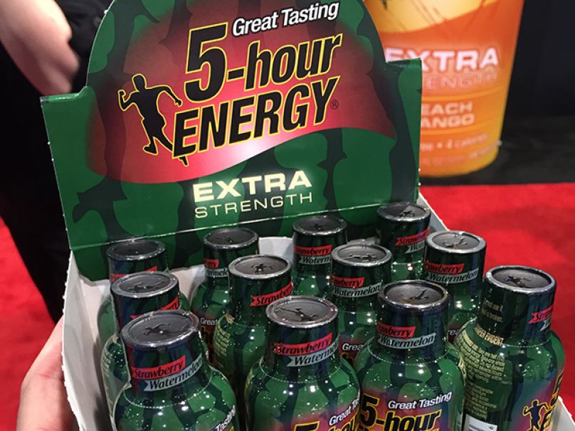 strawberry watermelon-flavored extra strength 5-hour energy