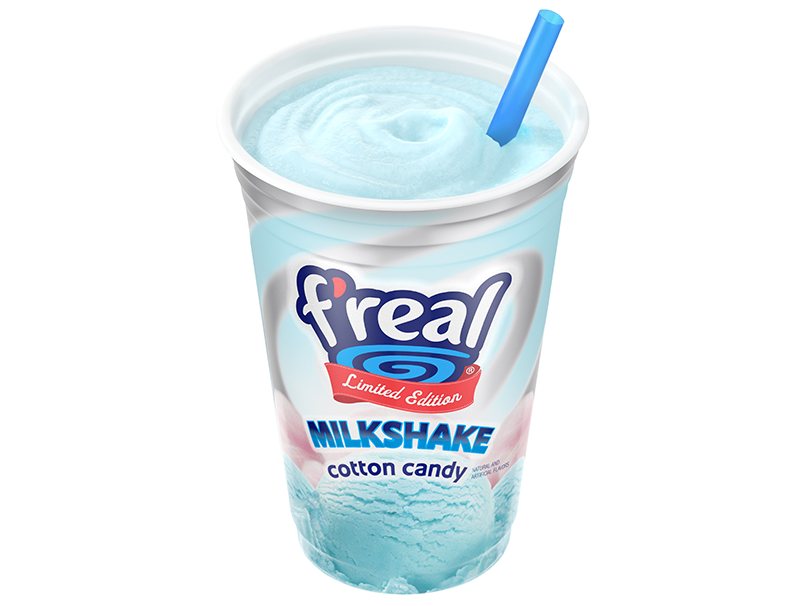 freal cotton candy shake