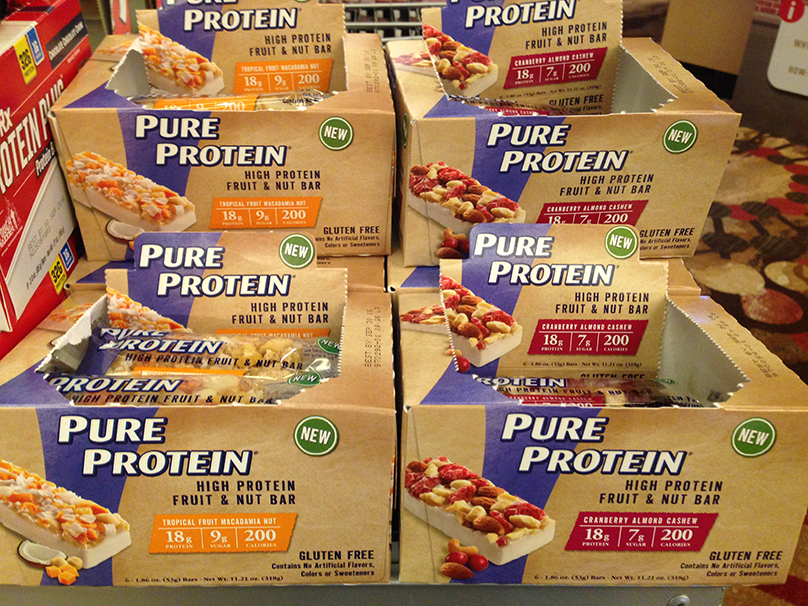 Pure Protein fruit & nut bars